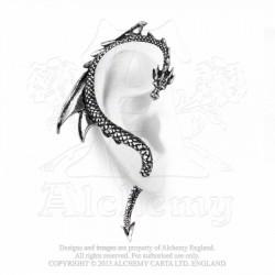 Alchemy Gothic E274R The Dragon's Lure Stud Ear-Wrap