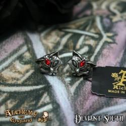 Alchemy Gothic E406 Sacred Cat Studs (pair)