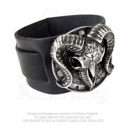 Alchemy Gothic A102 Gears Of Aiwass leather wriststrap