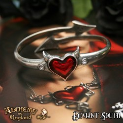 Alchemy Gothic ULFA6 Devil Heart bangle