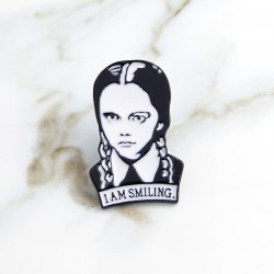 Wednesday Adams Family Enamel Pin Badge Brooch