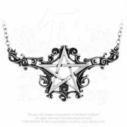 Alchemy Gothic P526 Absinthe Fairy pewter pendant necklace