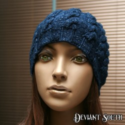 Blue Cables Beanie
