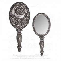 Alchemy Gothic V58 Baroque Rose Hand Mirror