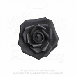 Alchemy Gothic ROSE4 Small Black Rose Head