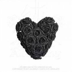 Alchemy Gothic ROSE7 Black Rose Heart