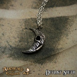 Alchemy Gothic P783 M'era Luna Crescens - Tragicom Moon pendant necklace