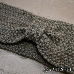 Grey Bow Knit Headband