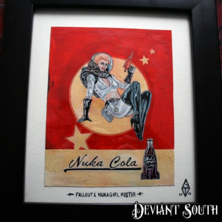 FALLOUT NUKA COLA POSTER framed artwork by Shane Terblanche
