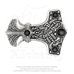 Alchemy Gothic B96 Thunder Hammer Buckle (belt not included)