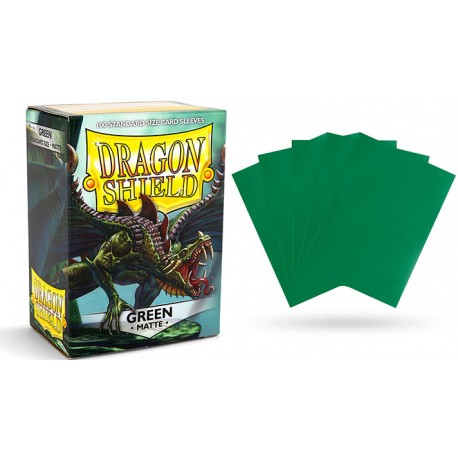 Dragon Shield Matte Standard Sleeves - Green (100)