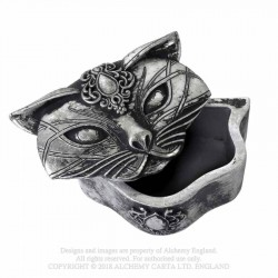 Alchemy Gothic V78 Sacred Cat Trinket Box