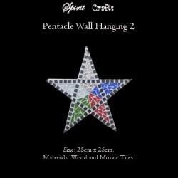 Pentacle Wall Hanger Large White