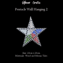 Spirit Crafts Pentacle Wall Hanger Large White