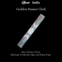 Runner Cloth Triple Goddess White