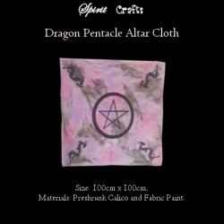 Altar Overlay Cloth Pentacle Dragon