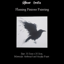 Spirit Crafts Painting Crow Flaming Pinion by Spirit Crafts