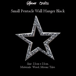 Spirit Crafts Pentacle Wall Hanger Small Black
