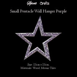Pentacle Wall Hanger Small Purple