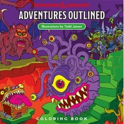Dungeons & Dragons Adventure Outlined Colouring Book