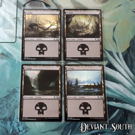 Magic: The Gathering MTG Singles - Core Set 2019 (M19) - Swamps (4 pack)