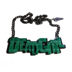 Kreepsville Dead Girl Mirror Acrylic Necklace
