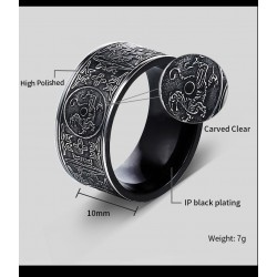 [On Demand] Stainless Steel Thor Viking 10mm Band Ring