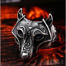 [On Demand] Stainless Steel Nordic Viking Animal Tribal Wolf Ring