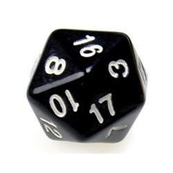 Gaming Die 20 Sided D20 - Black