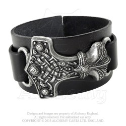 Alchemy Gothic A98 Thunderhammer Leather Wriststrap