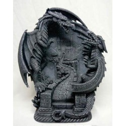 Fighting Dragons Statue