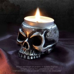 New Release! Alchemy Gothic V74 Skull Tea-Light Candle Holder