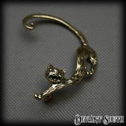 Cat Stud Ear-wrap Gold (single)