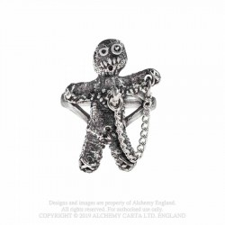 New Release! Alchemy Gothic AG-R236 Voodoo Doll ring