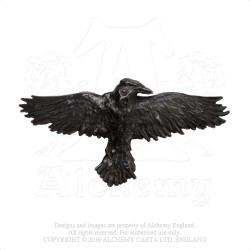 Alchemy Gothic HH10 Black Raven Hair Slide