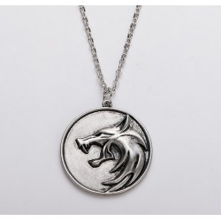 The Witcher Wolf Medallion Zinc Alloy Necklace