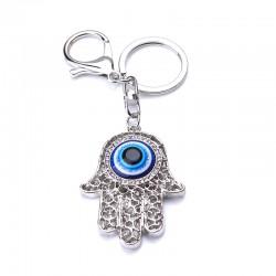 Hamsa Hand Fatima Palm Evil Eye Large Hollowed Out Key Chain