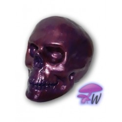 Whimsical Me Skull Pearlescent Maroon Purple