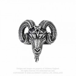 New Release! Alchemy Gothic AG-R239 Baphomet ring