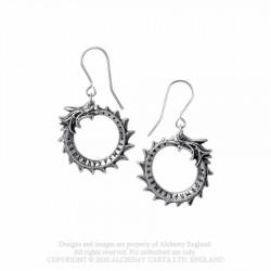 New Release! Alchemy Gothic E440 Jormungand Dropper Earrings (pair)