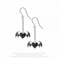 New Release! Alchemy Gothic E443 Blacksoul Dropper Earrings (pair)