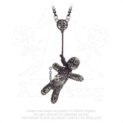 Alchemy Gothic P769 Voodoo Doll pewter pendant necklace
