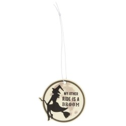 'My Other Ride Is A Broom' Witches Broom Rose Scented Air Freshener