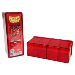Dragon Shield 4 Compartment Storage Box - Red