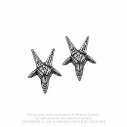 Alchemy Gothic E449 Baphomet Studs (pair)