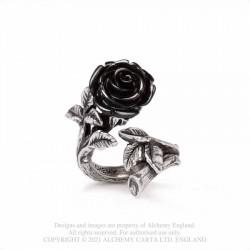 Alchemy Gothic AG-R241 Wild Black Rose ring