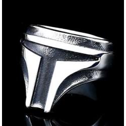 Stainless Steel Star Wars Mandalorian ring