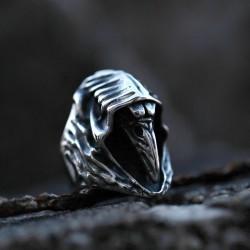 Stainless Steel Plague Doctor Reaper Bird Skull ring