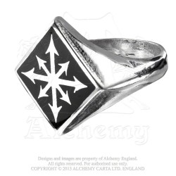 Last Chance! Alchemy Gothic AG-R99 Chaos Signet pewter ring