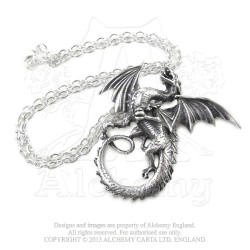 Alchemy Gothic P323 The Whitby Wyrm pendant necklace